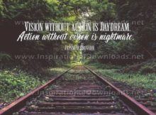 Vision And Action Inspirational Quote Graphic
