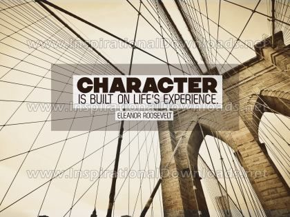 Built On Life's Experience Inspirational Quote Graphic