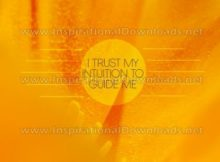 I Trust My Intuition Inspirational Quote Graphic