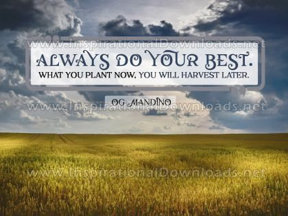 Always Do Your Best Inspirational Quote Poster by Og Mandino