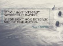 Have Integrity Inspirational Quote Graphic