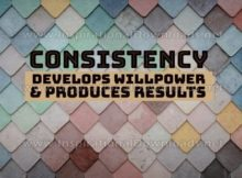 Consistency Develops Willpower Inspirational Quote Graphic