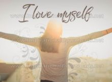 I Love Myself Inspirational Quote Graphic