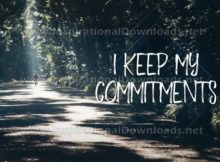 "I Keep My Commitments"" Inspirational Quote Graphic"