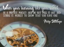 Wear Your Learning Inspirational Quote Graphic