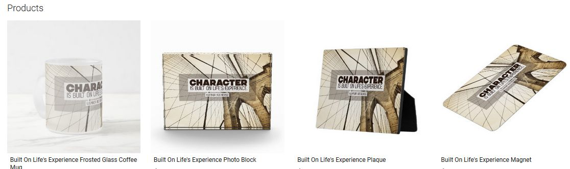Built On Life's Experience Inspirational Quote Graphic Customized Products