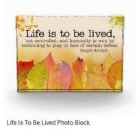 Customized Inspirational Photo Blocks