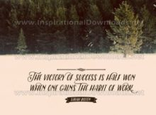 Victory Of Success Inspirational Quote Graphic