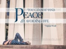 Find Peace Inspirational Quote Graphic