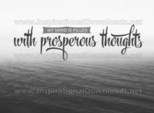 Mind Filled With Prosperous Thoughts Inspirational Quote Graphic