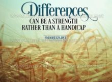 Differences Can Be A Strength Inspirational Quote Graphic