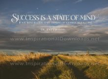 Success A State Of Mind Inspirational Quote Graphic