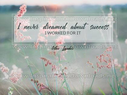 Success I Worked For It Inspirational Quote Graphic