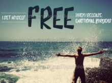 I Set Myself Free Inspirational Quote Graphic