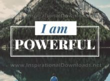 I Am Powerful Inspirational Quote Graphic