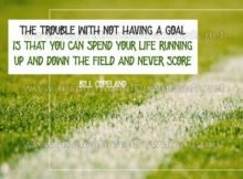 Having A Goal Inspirational Quote Graphic