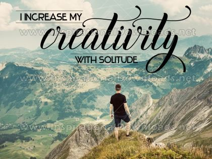 I Increase My Creativity Inspirational Quote Graphic