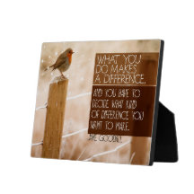 Difference You Want To Make Inspirational Plaque (Custom Inspirational Product)