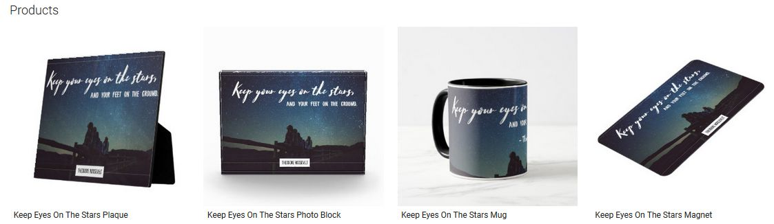 Keep Eyes On The Stars Inspirational Quote Graphic Customized Products