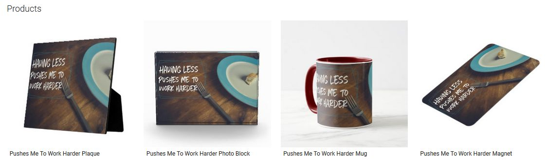 Pushes Me To Work Harder Inspirational Quote Graphic Customized Products