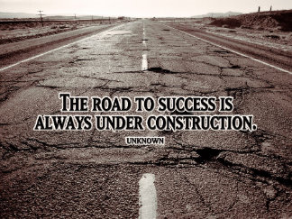 Customized Inspirational Poster: Road To Success Inspirational Poster