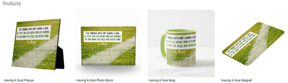 Having A Goal Inspirational Quote Graphic Customized Products