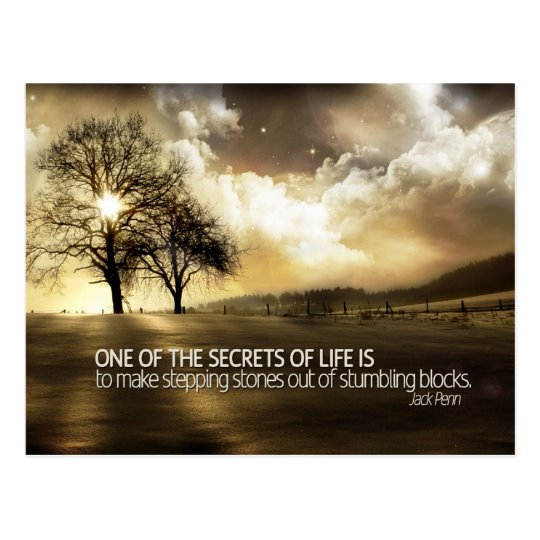 Secrets Of Life Inspirational Postcard (Custom Inspirational Product)