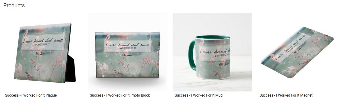 Success I Worked For It Inspirational Quote Graphic Customized Products