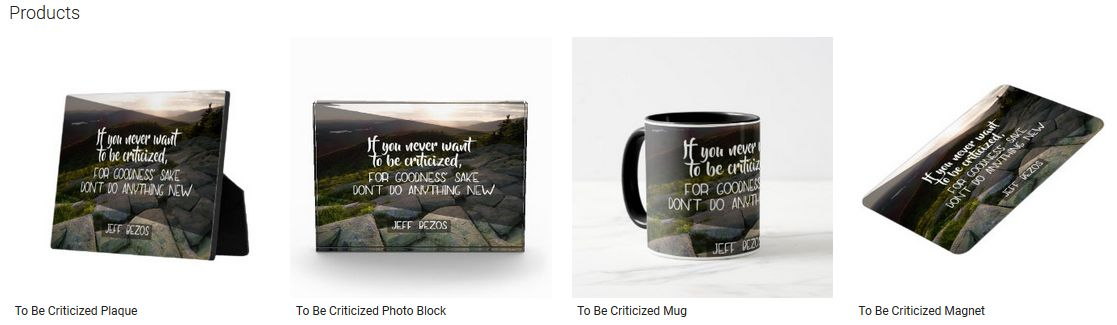 To Be Criticized Inspirational Quote Graphic Customized Products