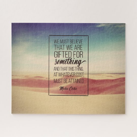 Believe That We Are GIFTED Inspirational Jigsaw Puzzle (Custom Inspirational Product