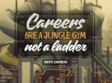 Careers Are A Jungle Gym Inspirational Quote Graphic
