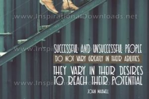 """Desires To Reach Their Potential"""" Inspirational Quote Graphic"""