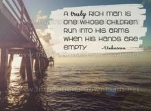 Truly Rich Man Inspirational Quote Graphic