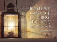 If You Have Knowledge Inspirational Quote Graphic