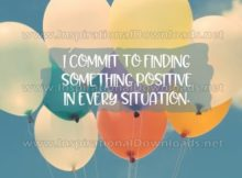 Finding Something Positive Inspirational Quote Graphic