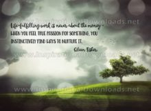 True Passion Inspirational Quote Graphic