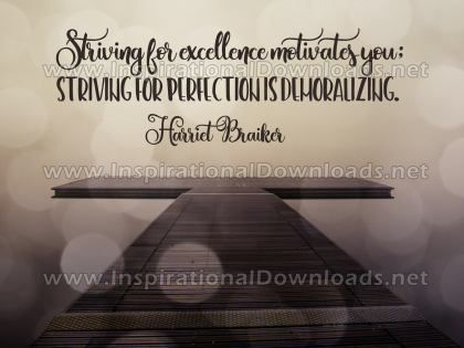 Striving For Excellence Inspirational Quote Graphic