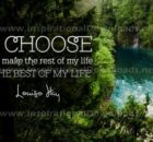 The Best Of My Life Inspirational Quote Graphic