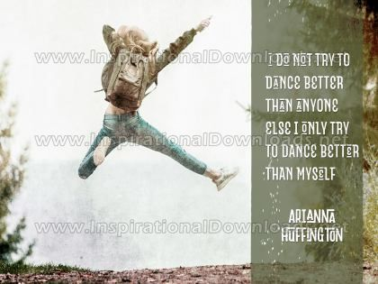 Dance Better Inspirational Quote Graphic