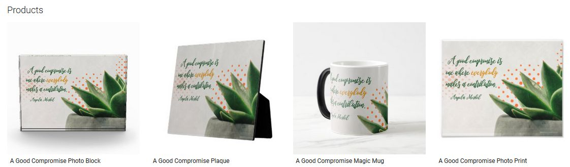A Good Compromise Inspirational Quote Graphic Customized Products