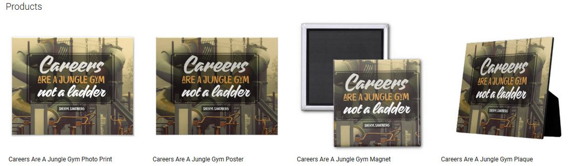 Careers Are A Jungle Gym Inspirational Quote Graphic Customized Products