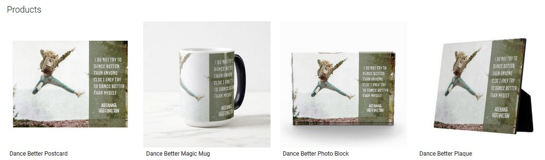Dance Better Inspirational Quote Graphic Customized Products