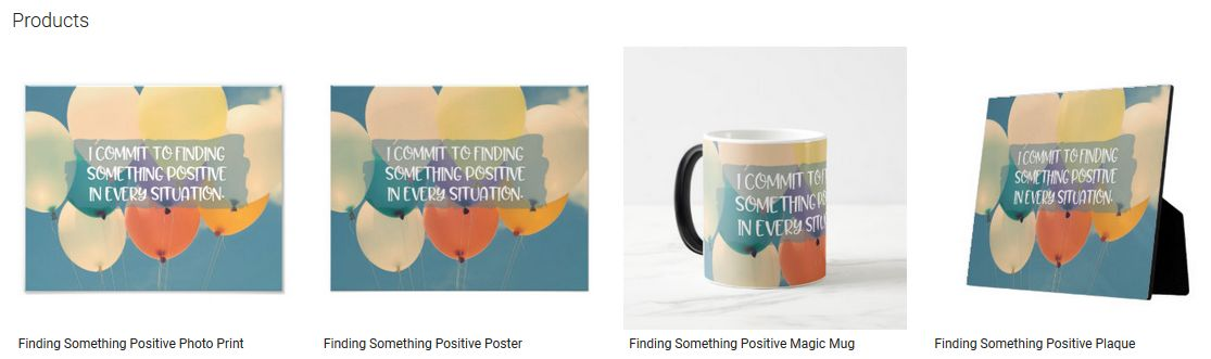 Finding Something Positive Inspirational Quote Graphic Customized Products