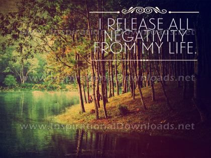 Release All Negativity Inspirational Quote Graphic