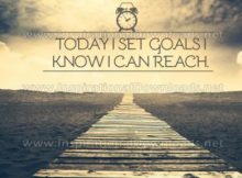 Set Goals Inspirational Quote Graphic