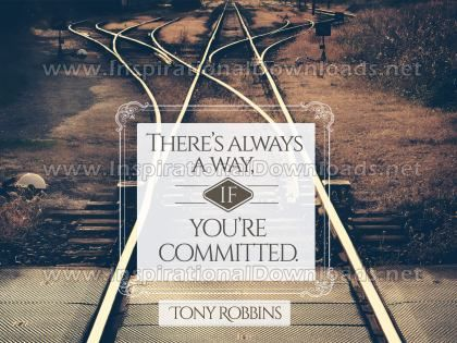 There's Always A Way Inspirational Quote Graphic