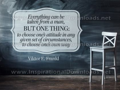 Choose One's Own Way Inspirational Quote Graphic