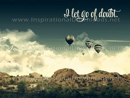 Let Go Of Doubt Inspirational Quote Graphic