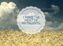 Most Of My Talents Inspirational Quote Graphic