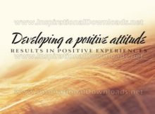 Developing A Positive Attitude Inspirational Quote Graphic